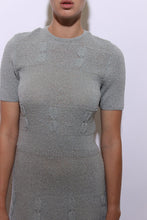 Load image into Gallery viewer, 1950's silver slate KNIT dress