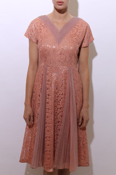 1950's DUSTY ROSE dress