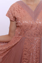 Load image into Gallery viewer, 1950's DUSTY ROSE dress