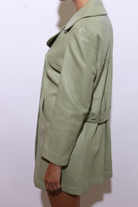 1960's MINT leather trench