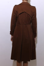Load image into Gallery viewer, 1970's military style trench coat