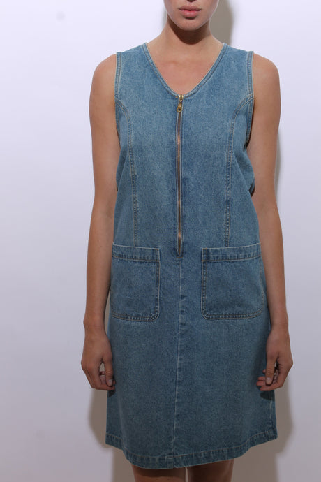 1980's denim dress