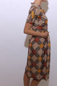 1950's silk housewife dress