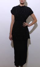 Load image into Gallery viewer, 1940's black stunner dress