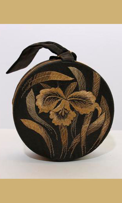 1940's EMBROIDERED silk micro bag