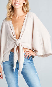 the TIE UP cardi in cream