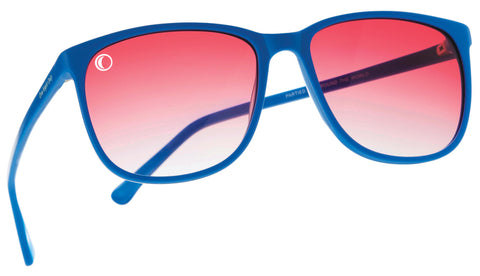 Mood Shapers sunglasses  Blue-Fiery Red