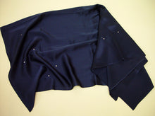 Load image into Gallery viewer, Ed Ruscha Midnight Blue Silk Scarf