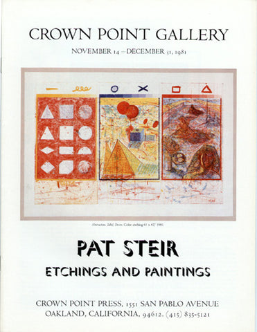 Pat Steir: Etchings and Paintings 1981