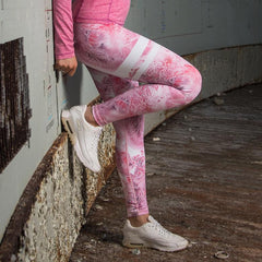 BARA - High Waist Pink Ice Tights