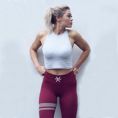BARA - High Waist Signatur Leggings (Bordeuax)