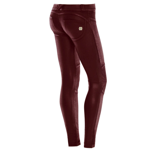 WR.UP® Skinny Fit Coated Biker Mørkerød (K73)