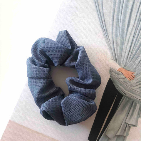 Fitfashion - Isa Scrunchie (Navy Blå)