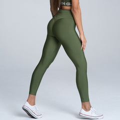 Gym Glamour - High Waist Leggings (Khaki)