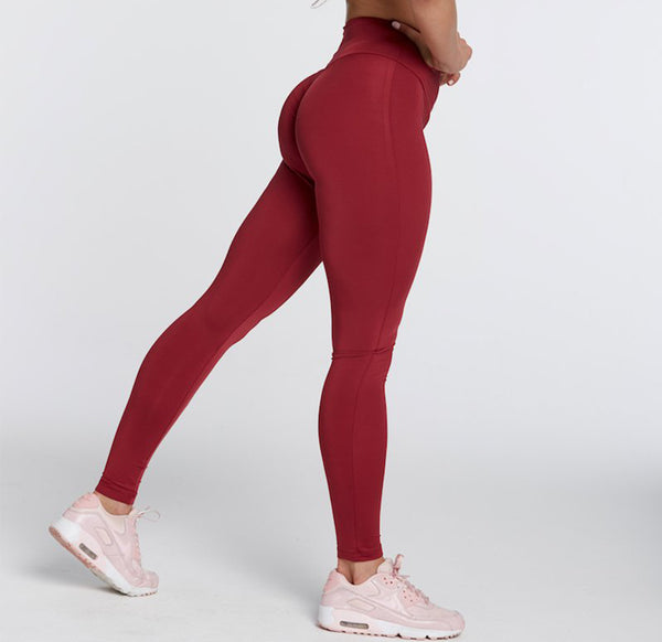 Gym Glamour - High Waist Leggings (Bodeaux)