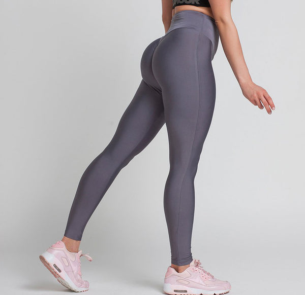 Gym Glamour - High Waist Leggings (Granit Grå)
