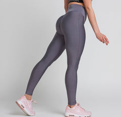 Gym Glamour - High Waist Leggings (Granit Grå