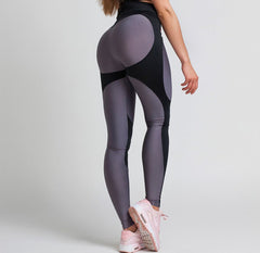Gym Glamour - High Waist Leggings (Sort/Grå)