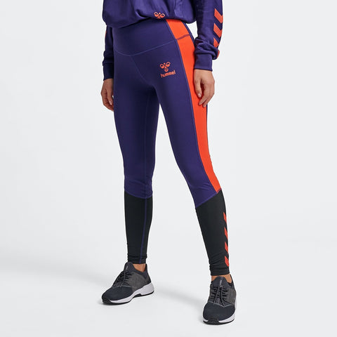 Hummel® - Toss Leggings (Navy/Orange)