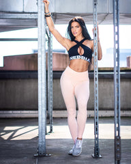 Nebbia - High Waist Scrunch Leggings (Lyserød)
