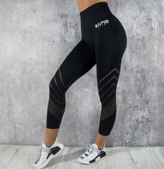 RapidWear - Detailed Seamless Leggings (Sort)