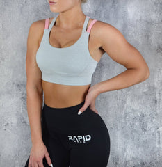 RapidWear - Ultimate Sports Bra (Grå/Pink)