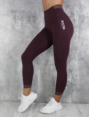 RapidWear - 7/8 Invisible Feel Leggings (Bordeaux)