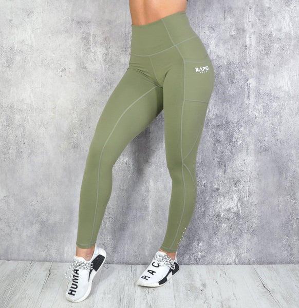 RapidWear - Energy Leggings (Khaki)