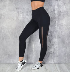 RapidWear - Power Mesh Leggings (Sort)