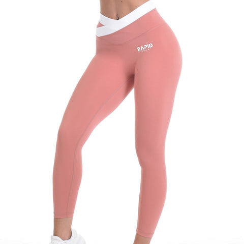 RapidWear - Two Toned Scrunch Leggings (Koral)