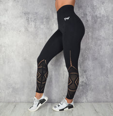 Rapid wear - Jacquard Seamless Leggings (Sort)