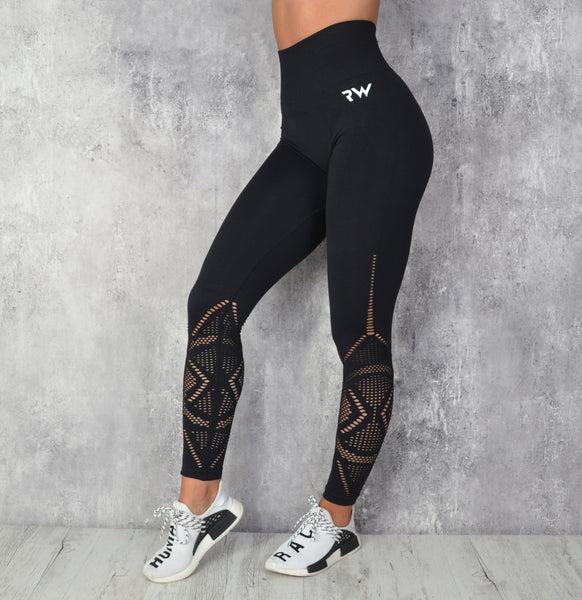 Rapidwear - Jacquard Seamless Leggings (Sort)