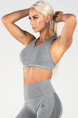 Ryderwear - Seamless Sports Bra (Lysegrå)
