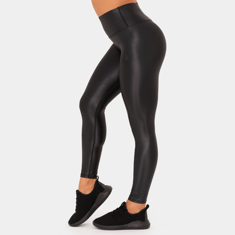 Ryderwear - Wet Look Leggings (Sort)
