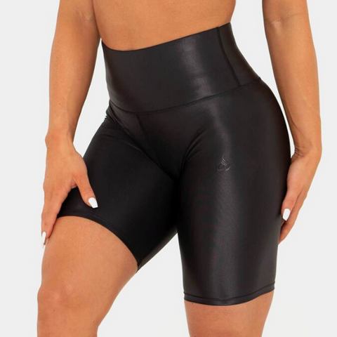 Ryderwear - Wet Look Biker Shorts (Sort)