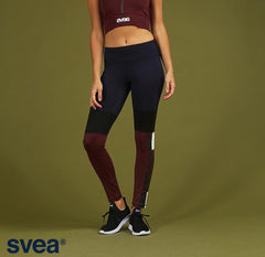 Svea - Hilde Leggings (Navy/Bordeaux)