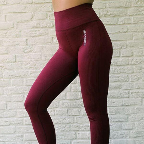 Victory Sportswear - Seamless Leggings (Bordeaux)