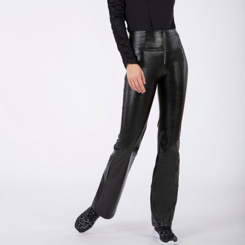 WR.UP® High Waist Eco Leather Flare Sort (N)