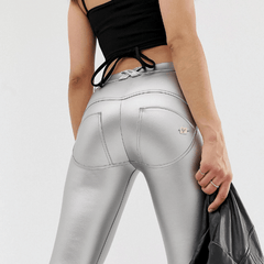 WR.UP® Regular Waist Eco Leather Sølv (S)