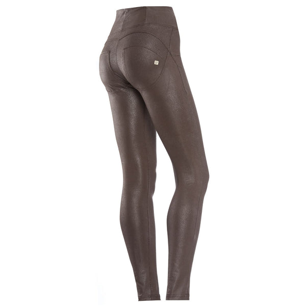 WR.UP® High Waist Faux Slangeskind Brun (M12)