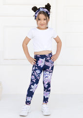 Xahara - Junior Oriental Leggings (Navy Blå)