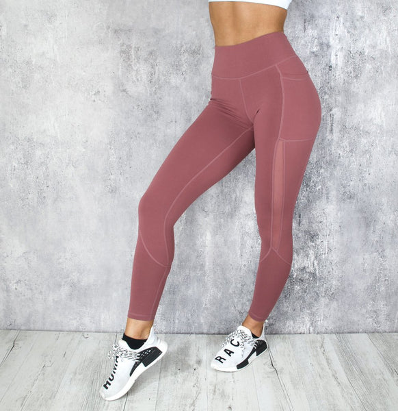RapidWear - Power Mesh Leggings (Støvet Pink)