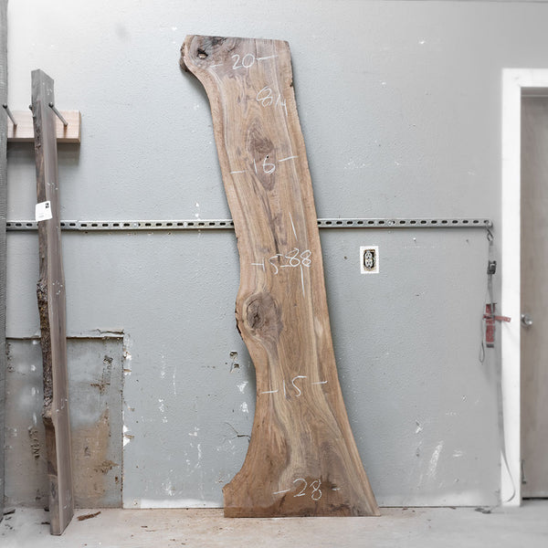 "88"" x 19"" Black Walnut Slab"