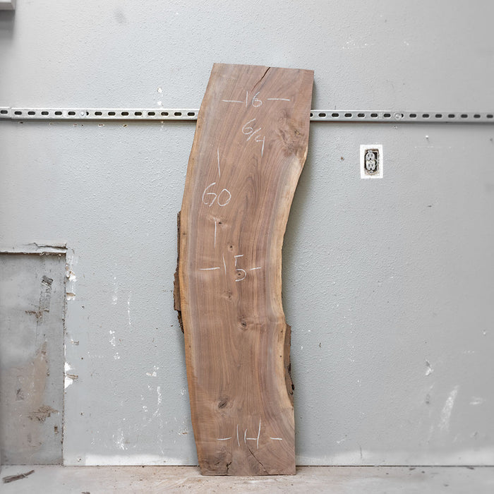 "60"" x 15"" Black Walnut Slab"