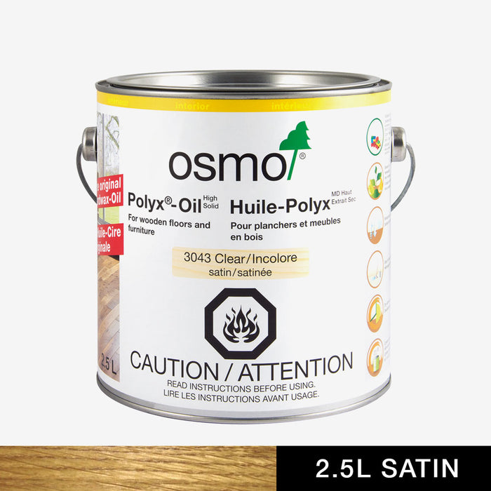 Osmo 3043 Polyx-Oil Clear Satin Finish