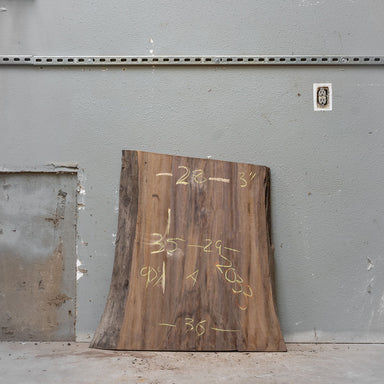"35"" x 29"" Black Walnut Slab"
