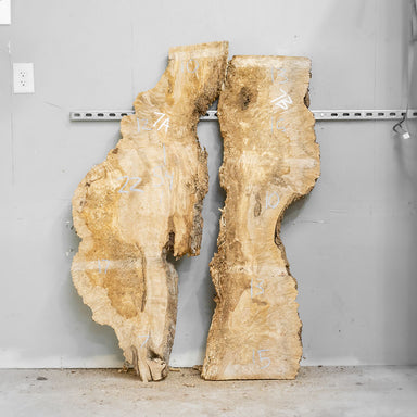"54"" Maple Burl Slab Set 7"
