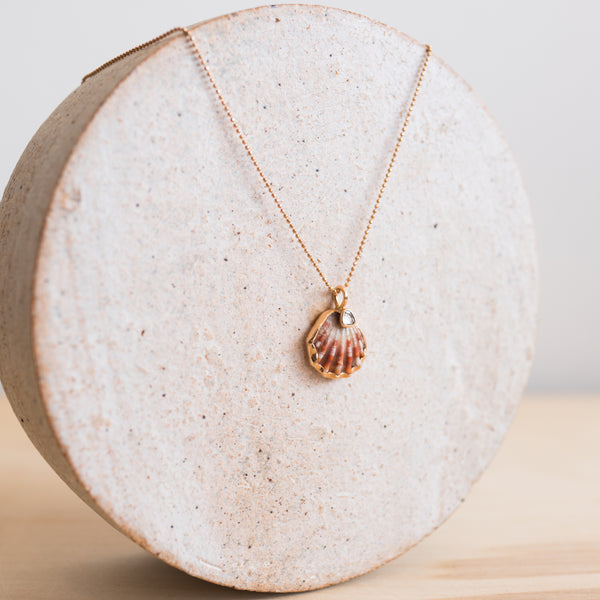 18K Sunrise Shell Pendant