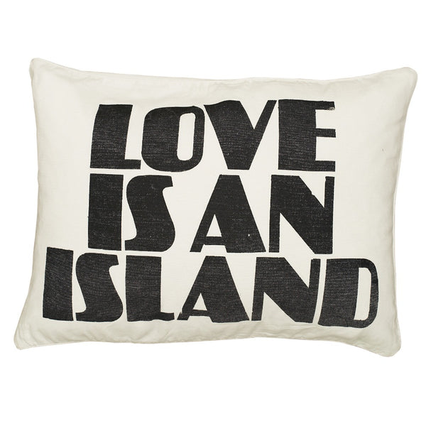 Love Is An Island Canvas Pillow