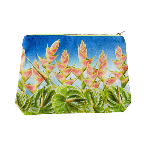 Tropical Collage Pouch